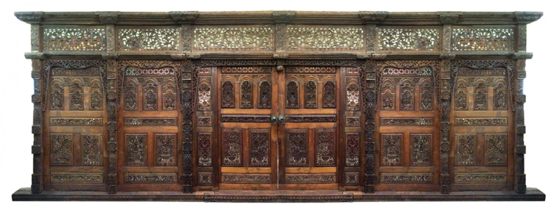 Ra389 real teak yogi wall from india 10 h x 24 w for Architecture antique